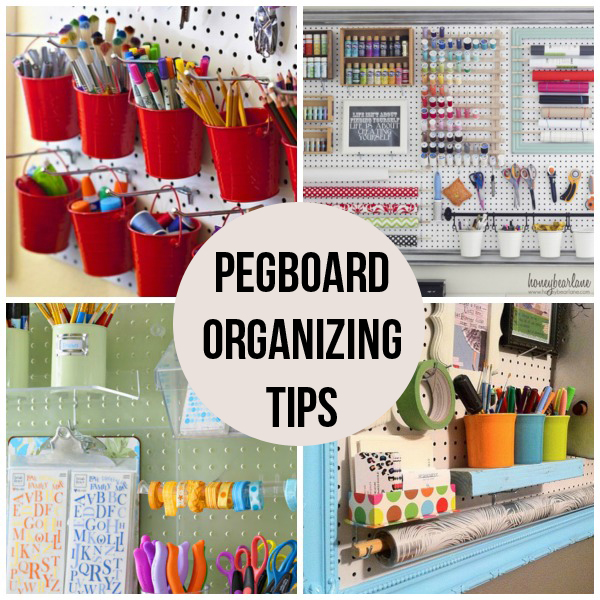 16 pegboard organizing tips scrap booking - Organizing craft supplies in small space collection ...