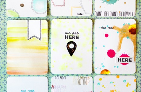 Tutorial | Make Project Life Cards with Stamps