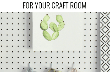Craft Room Peg Board Organization