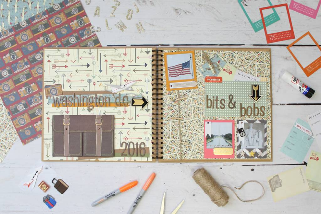How To Make A Travel Scrapbook Layout Scrap Booking