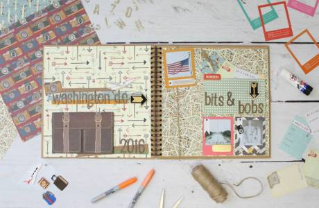 How to Make a Travel Scrapbook Layout