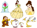 5 Beauty and the Beast Printables & Cut Files