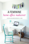 Fabulously Feminine Home Office Makeover