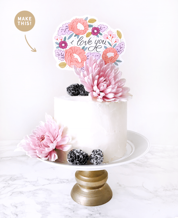 Cake Topper DIY Printable for Mother Day