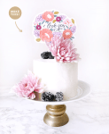Cake Topper DIY Printable for Mother's Day
