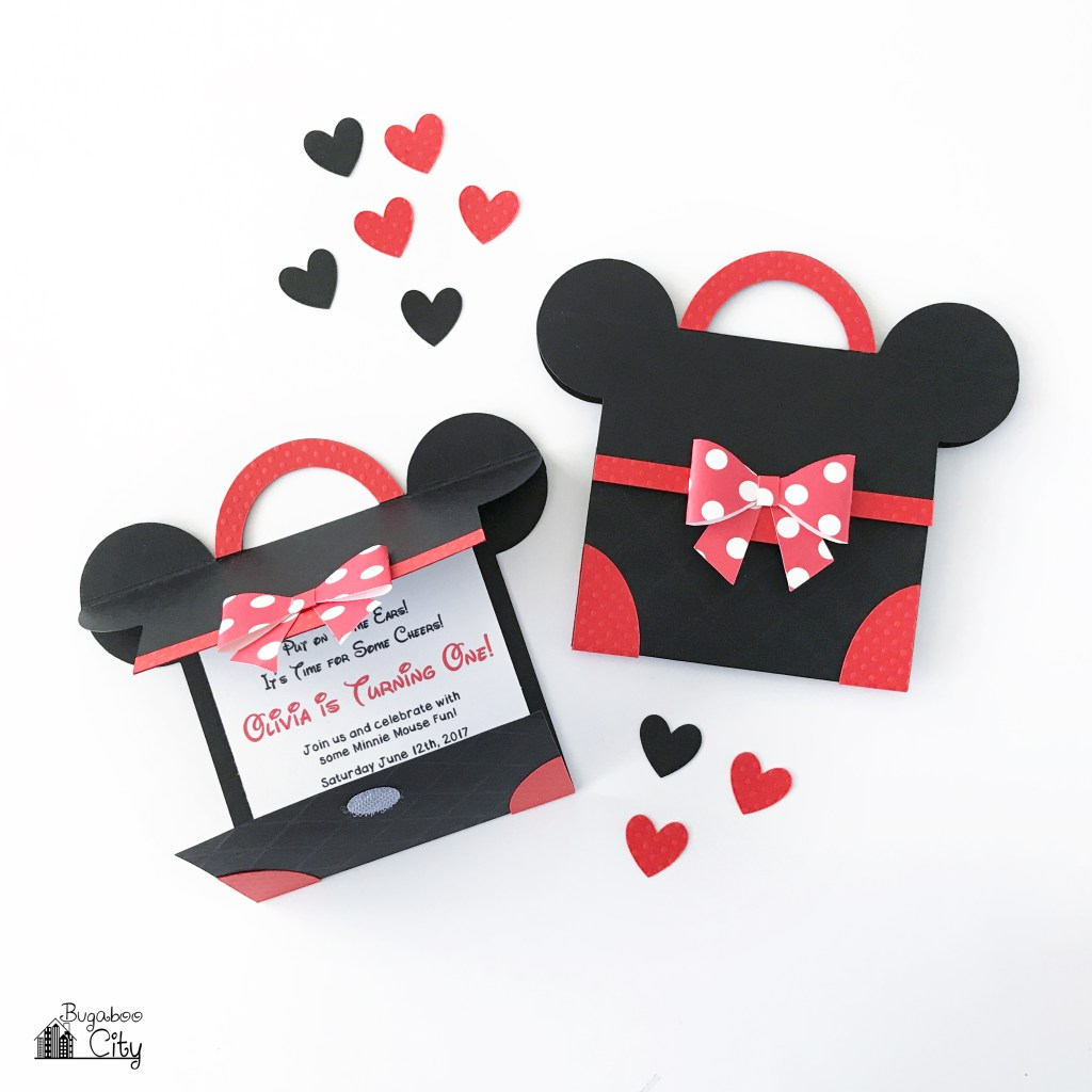 Diy Minnie Mouse Party Invitation With Free Pattern Scrap Booking