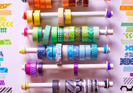 DIY Washi Tape Holder from PVC Pipe