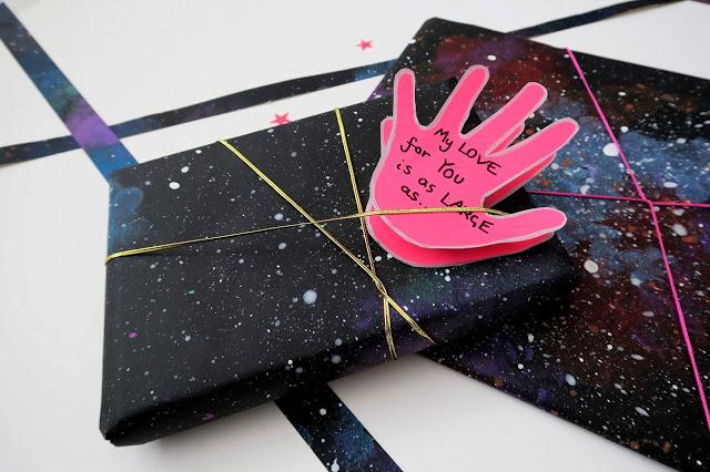Diy Galaxy Patterned Paper Card Scrap Booking