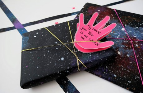 DIY Galaxy Patterned Paper & Card