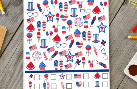 "4th of July ""I Spy"" Printable"