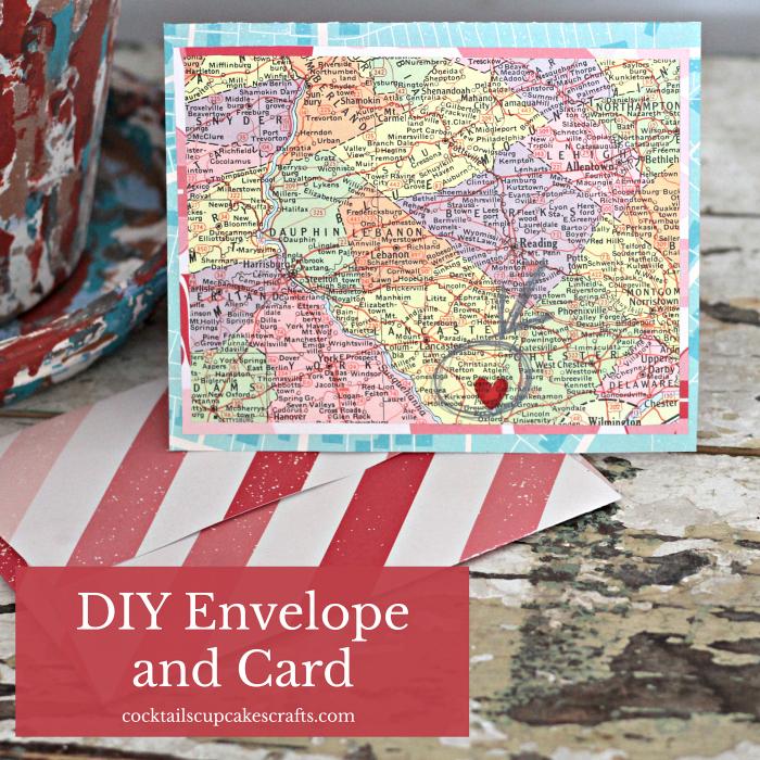 diy envelope and card  scrap booking