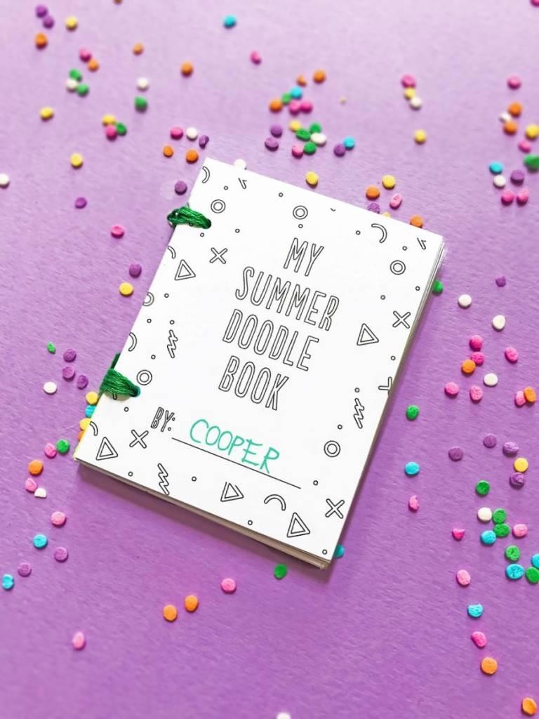 DIY Printable Mini Summer Doodle Books
