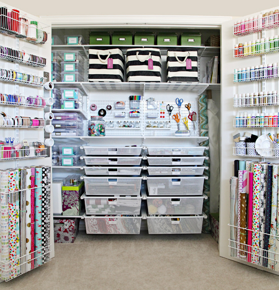 The ultimate craft closet organization scrap booking for How to store craft supplies