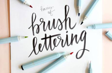 Hand Lettering Basics With Watercolor Markers