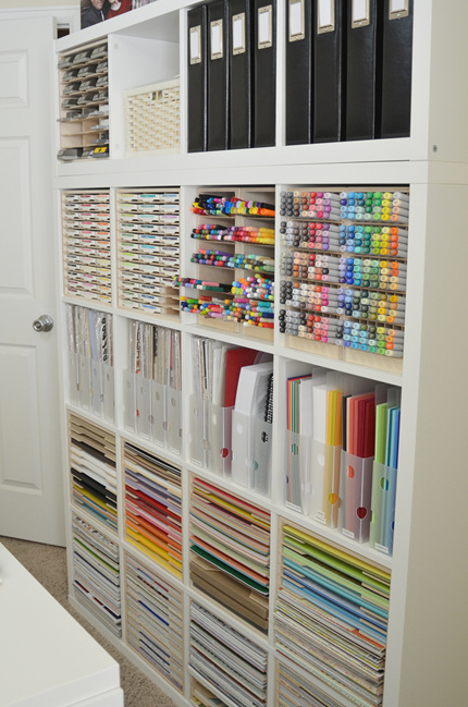 See How Paper Crafter Jeanne S Makes Efficient Use Of Her IKEA Kallax  Shelving With Specialised Storage Products From Stamp N Storage.