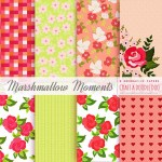 Freebie Deco Papers-Marshmallow Moments Collection