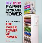 DIY | 12x12 Vertical Scrapbook Paper Storage Organizer