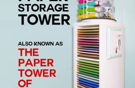 DIY | 12×12 Vertical Scrapbook Paper Storage Organizer