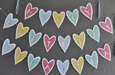 DIY | Loveheart Homemade Banner