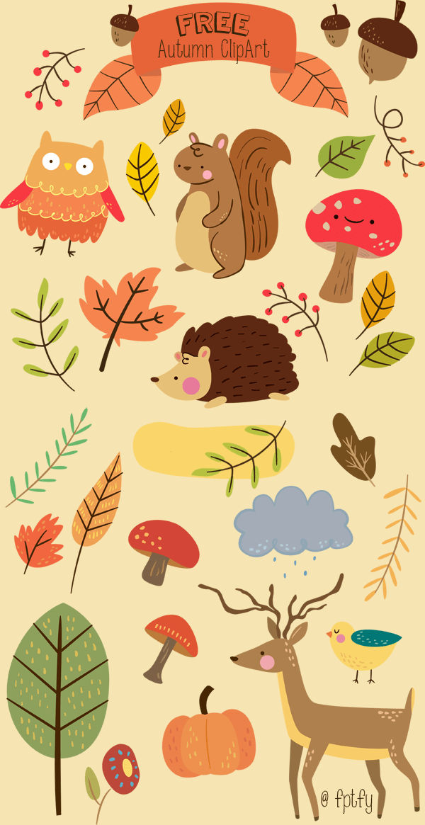 Printable Autumn Planner Stickers and Clip Art