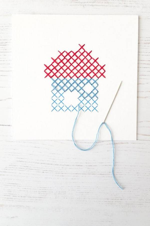How to Cross Stitch on Paper?