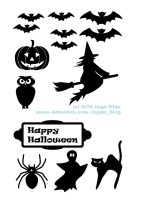 Fun Halloween Printable Silhouettes