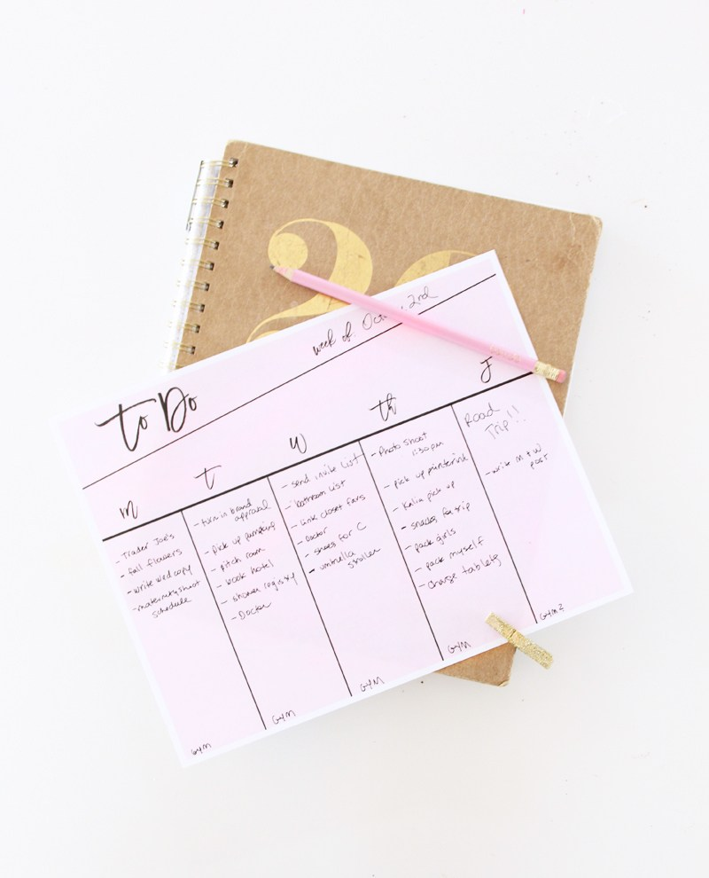 Get Organized With This Printable To-Do List?