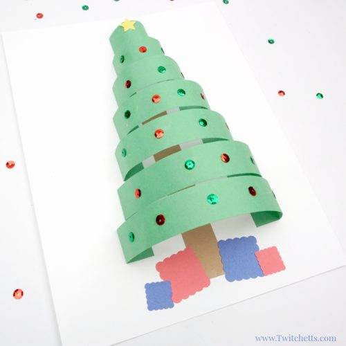 3D Paper Christmas Tree | Christmas Crafts for Kids