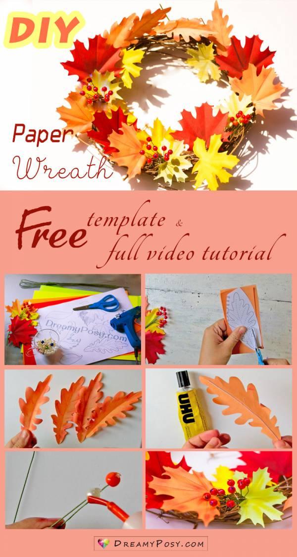 how to make paper thanksgiving decor  u2013 scrap booking