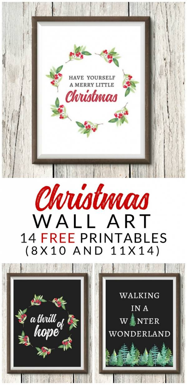 Farmhouse Christmas Art Printables