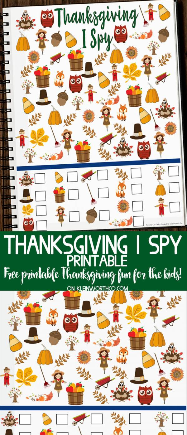 Printable Thanksgiving I Spy Game?