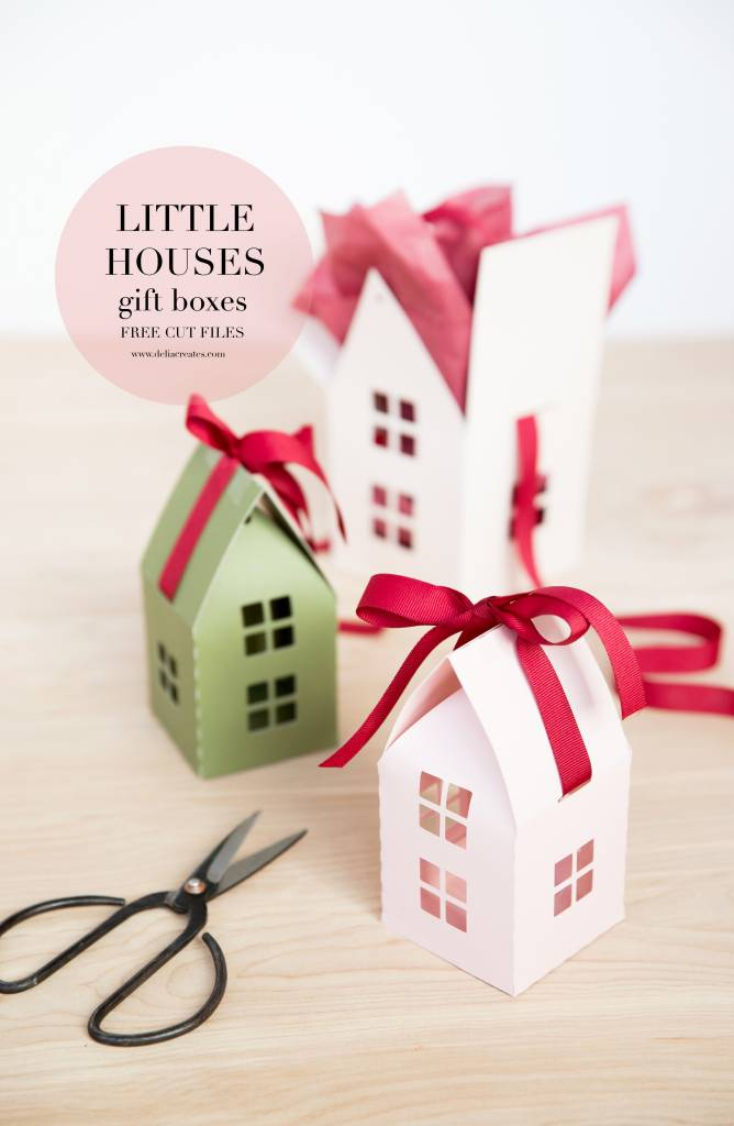 Cut File For Little Houses Gift Boxes