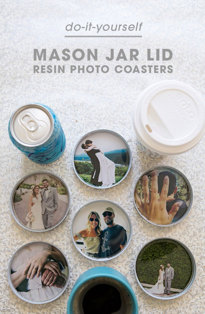 These DIY Photo Resin Coasters will Make Great Gifts