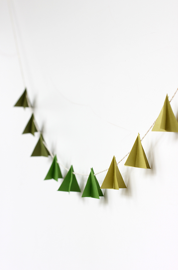 DIY | Modern Paper Tree Garland