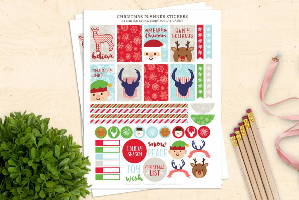 photo regarding Christmas Planner Printable identified as Printable Xmas Planner Stickers S Scheduling