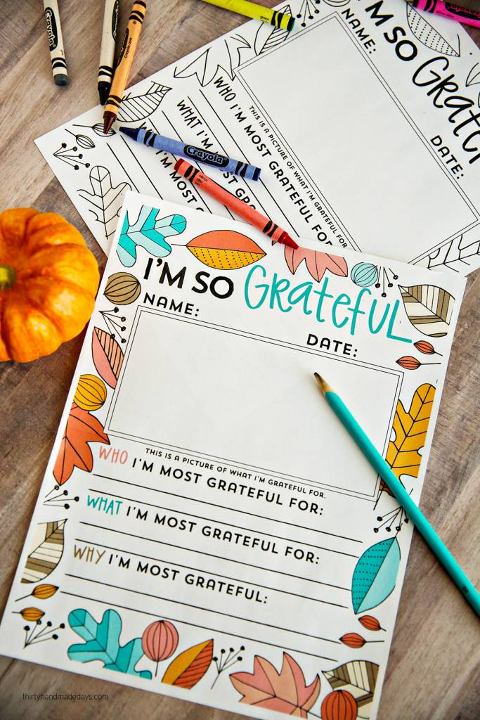 I M So Grateful Thanksgiving Coloring Pages Scrap Booking