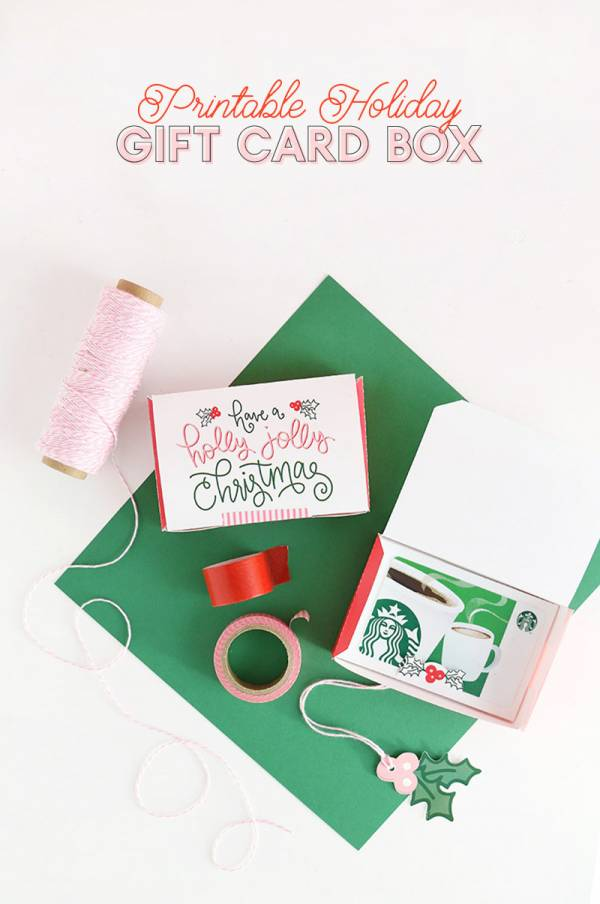 DIY Gift Card Box – Printable Gift Idea for Gift Cards
