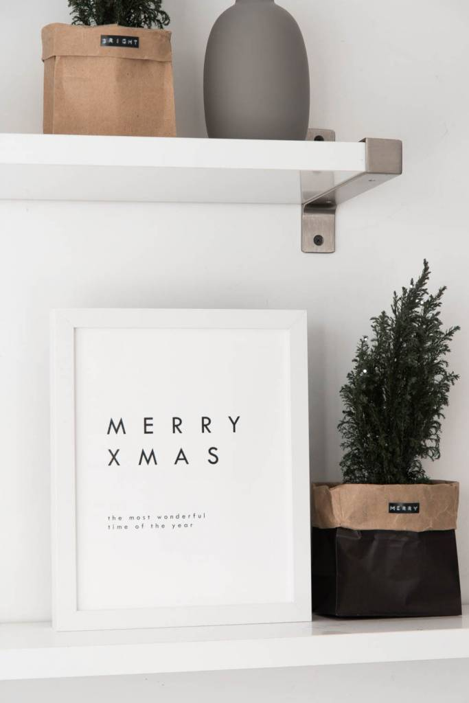 Minimalist Christmas Print for Home Decor or Scrapbooking