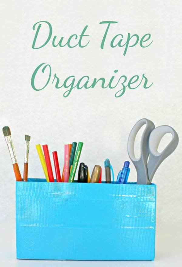 DIY | Duct Tape Organizer With Upcycled Cereal Box