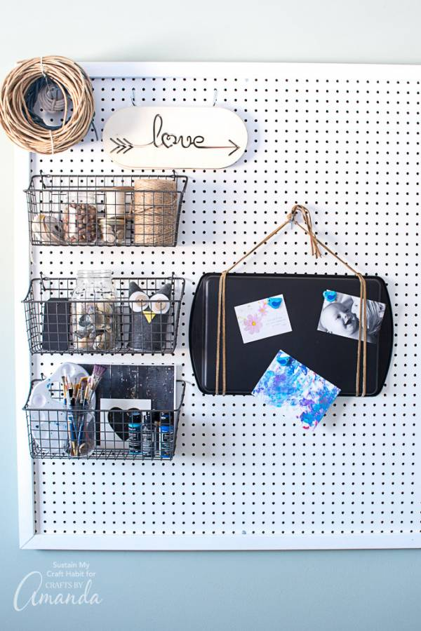 Create a Stylish Magnetic Board from an Old Cookie Sheet