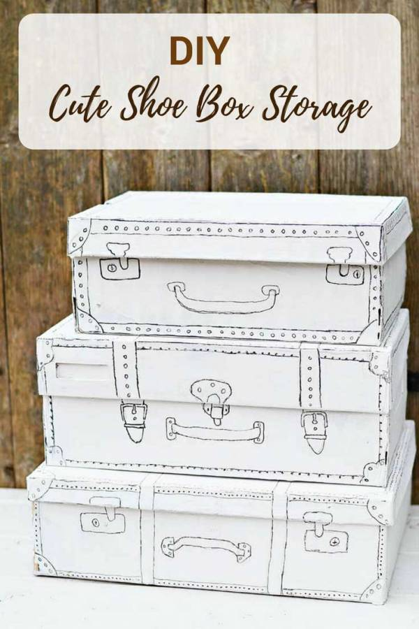 An Easy And Cute Shoe Box Craft For Storage