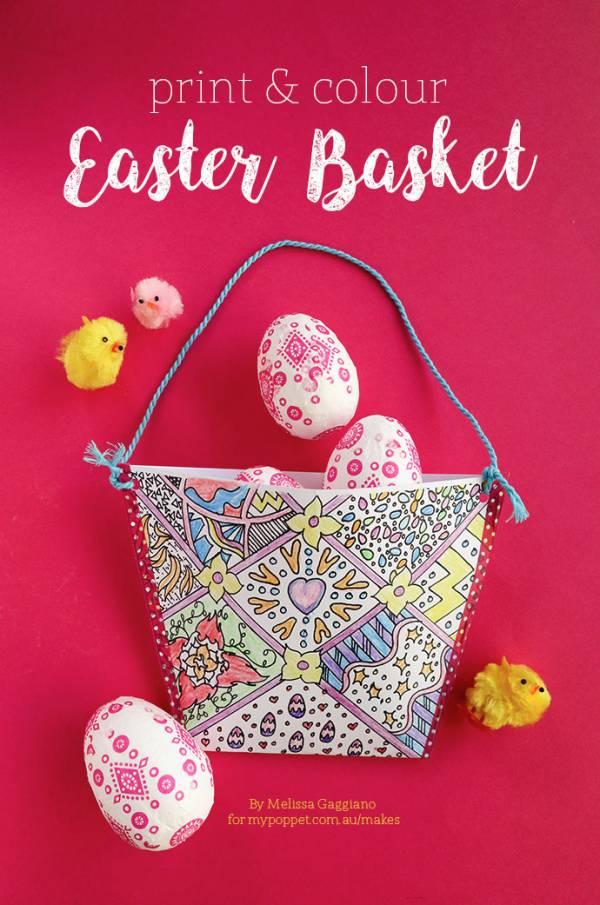Kids Craft: Print & Color Easter Basket
