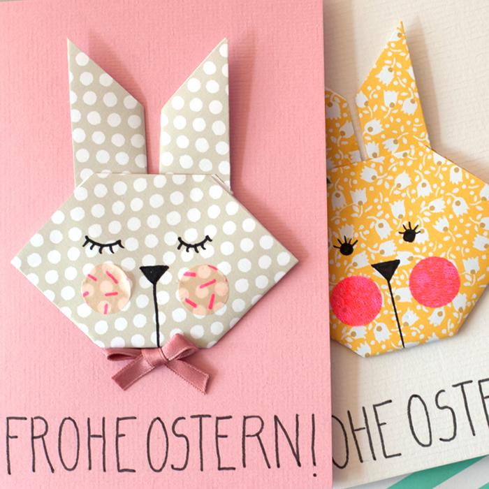 DIY Origami Easter Bunny