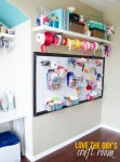 3 Incredibly Clever Ways to Organize a Craft Room