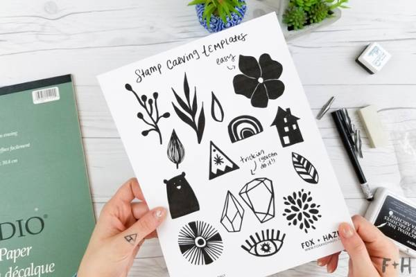 How To DIY Hand Carved Rubber Stamps