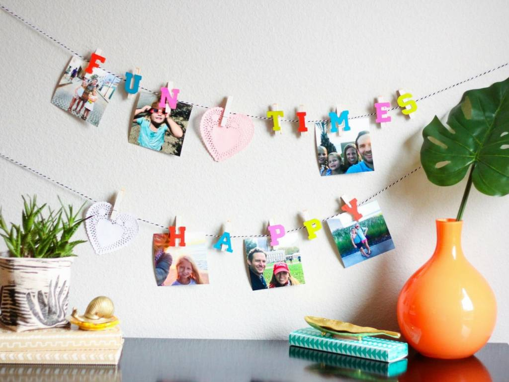 DIY Clothespin Photo Garlands