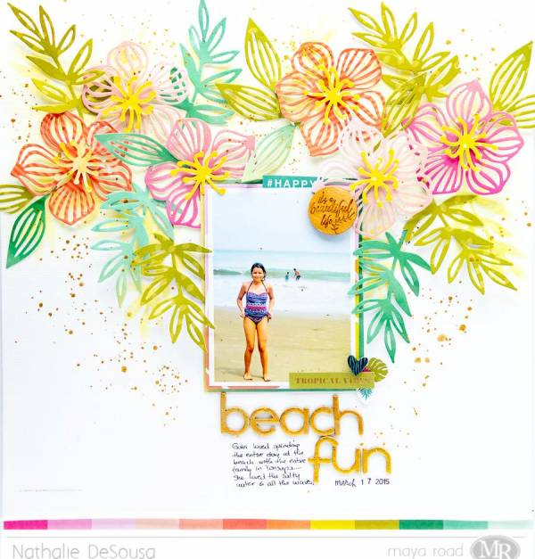 Beach Fun Scrapbook Page