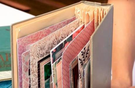 Turn an Old Book Into a Scrapbook
