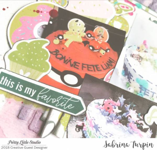 Cakes Scrapbook Page