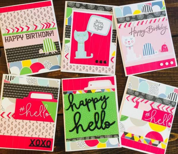 Cards Using Paper Scraps